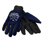 NFL Football Super Bowl Commemorative Team Logo Utility Work Gloves