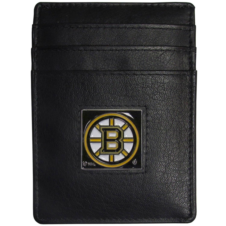 Boston-Bruins-Black-NHL-Leather-Money-Clip-Cardholder-Packaged-in-Gift-Box
