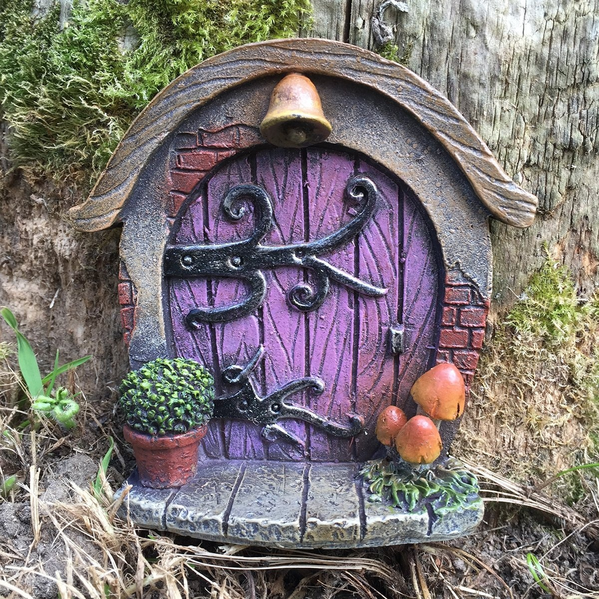Miniature Hobbit, Pixie, Elf, Fairy Door , Tree Garden Home Decor , Fun  Quirky Gift Figurine , H7cm