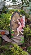 large Secret Fairy Door Garden Magical Statue Ornament Figurine 19cm tall