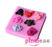 Pinkie Tm Dog Head Fondant Cake Silicone Mould Chocolate Clay Resin Mould Sugarcraft Cake Decorating Tools