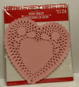 Heart Lace-trimmed Paper Doilies, 20cm , Pack of 24