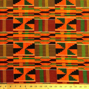 Kente African Print Fabric Cotton Print 110cm wide Sold By The Yard