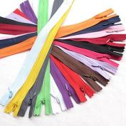 Chenkou Craft 15pcs Invisible Zippers Pillow Garment Dress Clothes Cushion 15 Colours 11inche