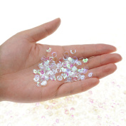 Bilipala Bulk Clear Sequins, Crystal Iridescent Spangles For DIY Crafts, Embroidery, 6mm, About 3000 Pieces