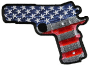 1911 PISTOL .45 AMERICAN FLAG PATCH - Colour - Veteran Owned Business.