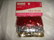 Red, Silver, & Gold Sequins # pack 30ml