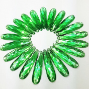 .   Top Quality 60PCS 9x36mm 2 Holes Sew on Green Drop Shape Flatback Acrylic Fancy Crystal Clear Stones Sewing Rhinestone For DIY Clothes