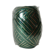 JAM Paper Curling Ribbon - 1cm Wide x 12m per Ribbon Egg - Dark Green with Gold Stripe - Pack of 6
