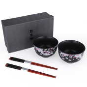 Seb's Kitchen Japanese Handcrafted Cherry Blossom 2pc Bowl Set