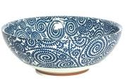 Japanese Blue Vines Large Soup,Noodle or Serving Bowl