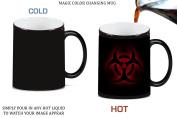 Bio Hazard Red Glow Magic Colour Changing Ceramic Coffee Mug Tea Cup by Moonlight Printing