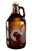 Saint Bernard Dog Breed Pride Hand-Made Etched Glass Beer Growler 1890ml