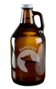 Samoyed Dog Breed Pride Hand-Made Etched Glass Beer Growler 1890ml