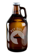 Pit Bull Dog Breed Pride Hand-Made Etched Glass Beer Growler 1890ml