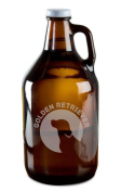 Golden Retriever Dog Breed Pride Hand-Made Etched Glass Beer Growler 1890ml