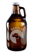 Beagle Dog Breed Pride Hand-Made Etched Glass Beer Growler 1890ml