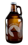 Akita Inu Dog Breed Pride Hand-Made Etched Glass Beer Growler 1890ml