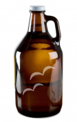 Flying Beach Birds Hand-Made Etched Glass Beer Growler 1890ml