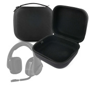 LARGE Matte Black Tough EVA Storage Carry Case for the Logitech G533 Wireless Gaming Headset - by DURAGADGET