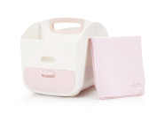 Ubbi Portable Nappy Changing Station + Nappy Storage Caddy Organiser with Changing Mat + Baby Wipe Dispenser Monitoring