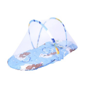 Baby Infant Bed Canopy Mosquito Net Cotton-padded Mattress Pillow