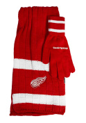 NHL Team Colour Knit Scarf and Glove Gift Set