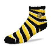 For Bare Feet NHL Candy Cane Stripe Fuzzy Sleep Sock -Size-Medium
