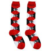 NHL Repeat Logo Argyle Knee High Socks-Medium