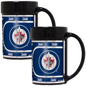 NHL Black Ceramic Mug Set Metallic Wrap 440ml