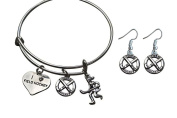 Field Hockey Bracelet, Field Hockey Jewellery, Field Hockey Gifts, Field Hockey Charm Bangle Bracelet Perfect Gift for Girl Field Hockey Players …