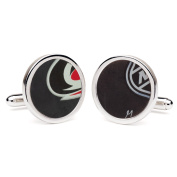 Tokens & Icons NHL Game Used Hockey Puck Cufflinks - Round