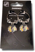 NHL Licenced Clear Bead Hoop Dangle Earrings