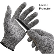 Inf-way Cut Resistant Gloves--Dyneema Level 5 Protection Food Grade Kitchen Meat Saw Safety Working Gloves
