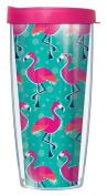 Flamingo Wrap Traveller 470ml Tumbler Mug with Lid
