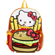Hello Kitty Burger & Fries 41cm Backpack and Insulated Lunch Bag - Kids