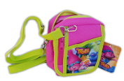 Trolls Poppy Hot Pink Camera Pouch Bag Wallet Purse with Shoulder Strap. Size
