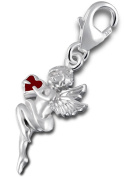 """Best Wing Jewellery .925 Sterling Silver Clip-on """"Cupid"""" Dangle Charm"""