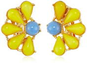 Ben-Amun Jewellery Garden Escape Daisy Clip-On Earrings