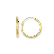 MCS Jewellery 14 Karat Yellow Gold Small Endless Hoop Earrings 16mm