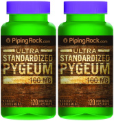 Pygeum Standardised 100 mg 2 Bottles x 120 Capsules