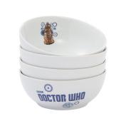 Vandor Doctor Who 17cm Ceramic Bowls, 4-Piece Set