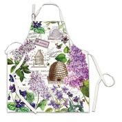 Michel Design Works Cotton Chef Apron, Lilac/Violets