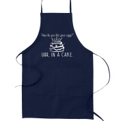 How Do You Like Your Eggs. Uhh in a Cake Funny Parody Cooking Baking Kitchen Apron - Navy Blue