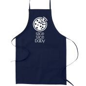 Slice Slice Baby Funny Parody Cooking Baking Kitchen Apron - Navy Blue
