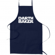 Darth Baker Funny Parody Cooking Baking Kitchen Apron - Navy Blue