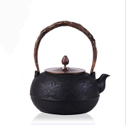 Japan Southern Cast Iron Pot Peak Pattern Uncoated Boiled Water Tea 1.8L