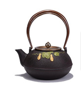 Japanese Southern Cast Iron Pot Green Leaf Gourd Pattern Without Coating Boiled Water Tea