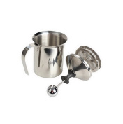 400ml Stainless Steel Milk Frother Milk Creamer Cappuccino Maker with Double Mesh