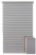 EFIXS ~ mini roller blind ~ model: NATURA ~ colour: whitish brown ~ WITHOUT DRILLING ~ width: 120 ~ height